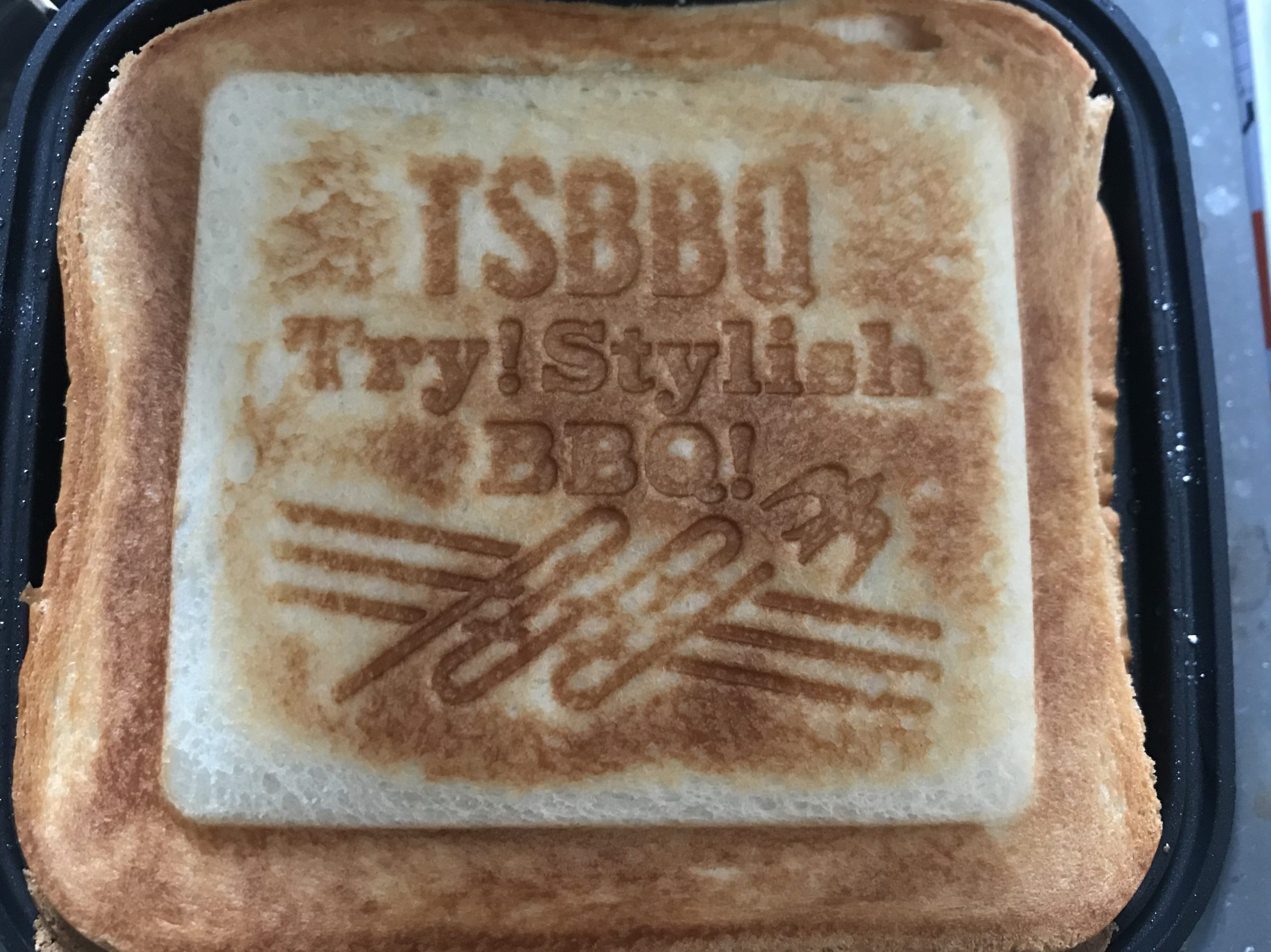 TSBBQのホットサンドメーカ- ロゴの付き方