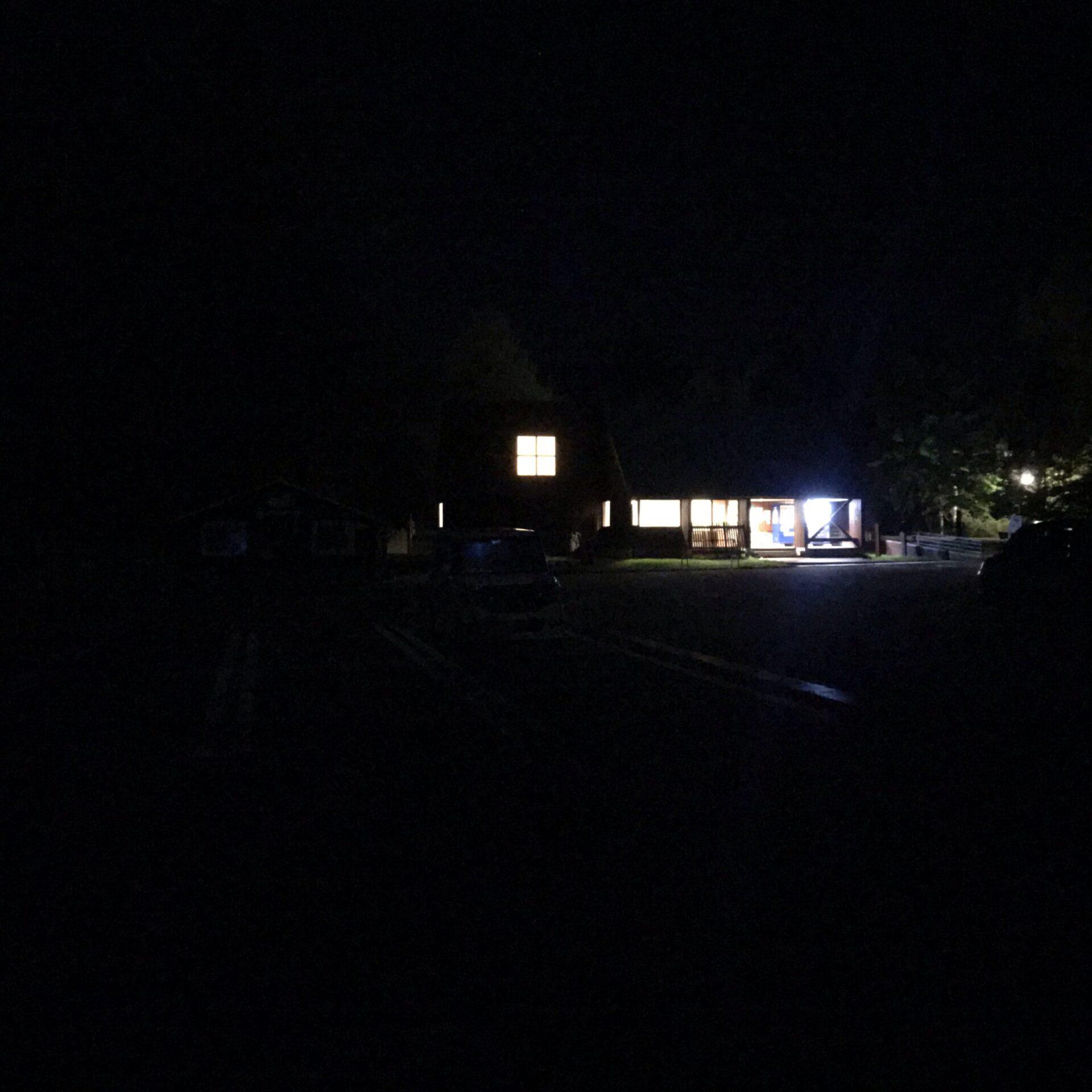 道の駅びえい白金ビルケの駐車場は夜がかなり暗い
