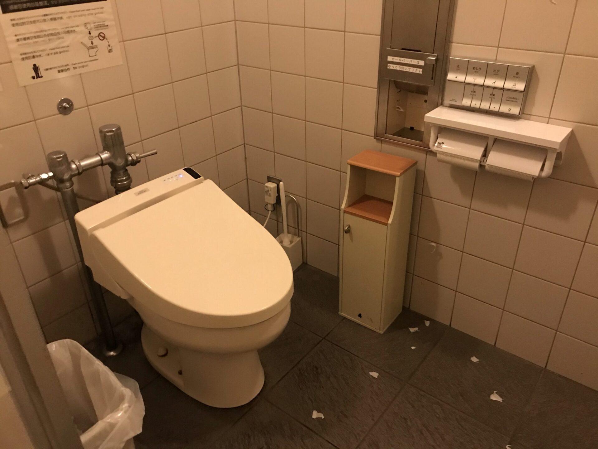 道の駅びえい白金ビルケの女子トイレは綺麗だがゴミが散乱していた