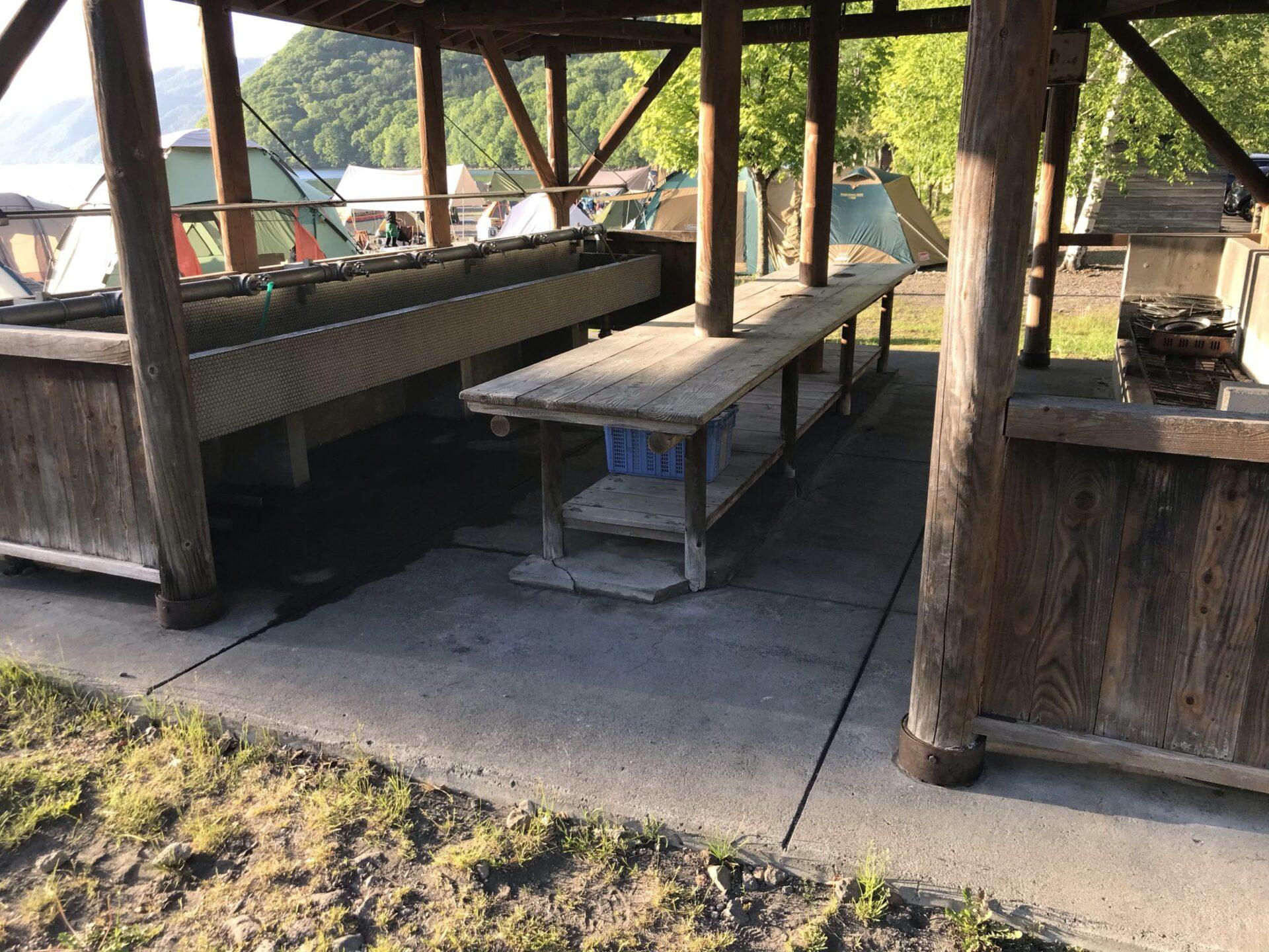 モラップキャンプ場の炊事場