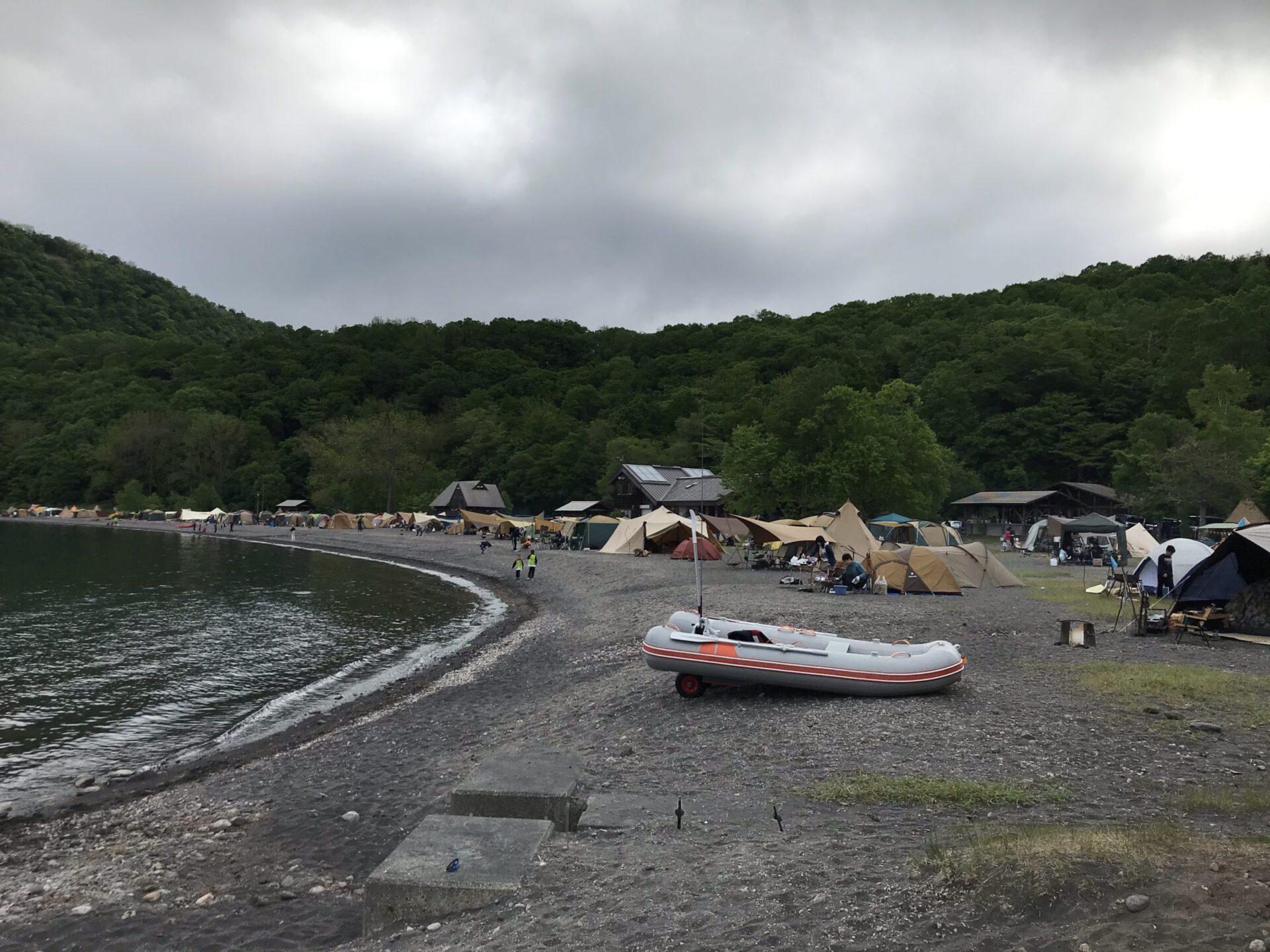 支笏湖モラップキャンプ場は通年混んでいる